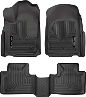 Husky Liners 99151 Black Weatherbeater Front & 2nd Seat Floor Liners Fits 2016-2019 Dodge Durango, 2016-2019 Jeep Grand Ch...