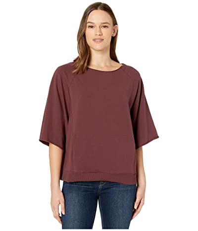 manduka Resolution Raglan Pullover (Dark Chestnut) Women