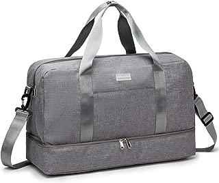 Gym Bag For Women Men Sport Duffel Bag with Shoes Compartment, Swim Bag Travel Tote Luggage Shoulder Bag