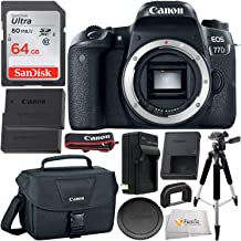 Canon EOS 77D DSLR Camera with Accessory Bundle (Body Only Essential)