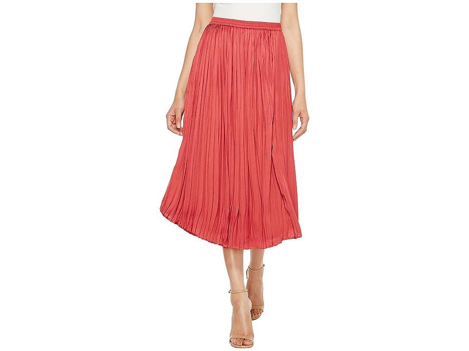 Vince Camuto Pleated Rumple Skirt (Sunset Rose) Women