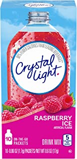 Crystal Light Sugar-Free Raspberry Ice Drink Mix (120 On-the-Go Packets, 12 Packs of 10)