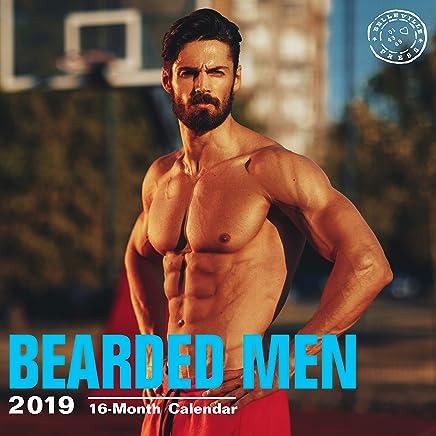 Bearded Men 2019 16 Month Wall Calendar 12 x 12 Inches