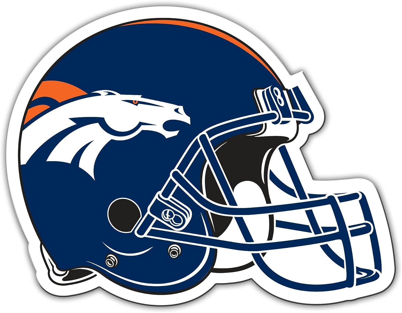 """Fremont Die NFL Denver Broncos Vinyl Helmet Magnet, 12"""", Team Colors : Refrigerator Magnets : Sports & Outdoors"""