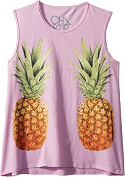 Extra Soft Mirrored Pineapples Tank Top (Little Kids/Big Kids)
