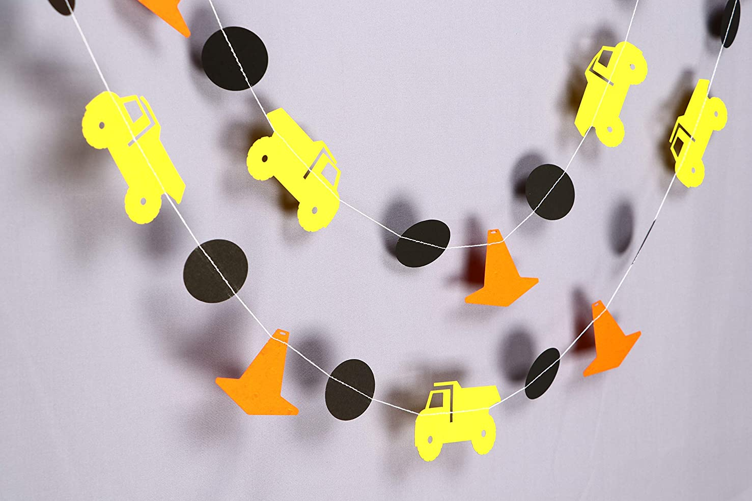 Dump Truck Construction 10ft Party Paper Garland, Birthday Party Decor, Wedding Shower Decor, Nursery Décor