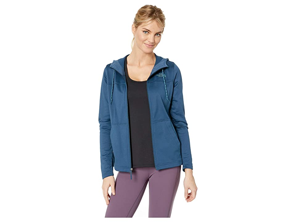 The North Face Tech Mezzaluna Hoodie (Blue Wing Teal/Blue Wing Teal) Women