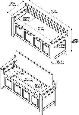 Linon Laredo Storage Bench