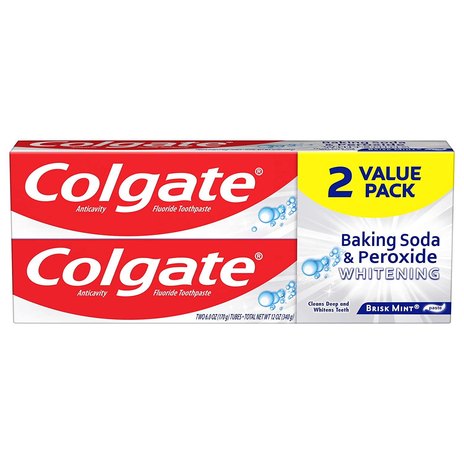 Colgate Fresno Mall Baking Soda and 2021 Peroxide Whitening - 6 Toothpaste ounce