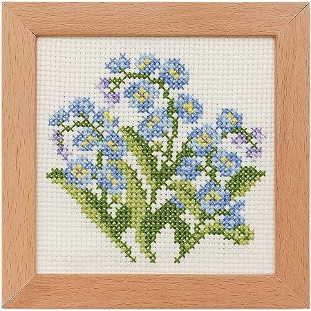 LECIEN (ルシアン) 刺しゅうキット 小さな花のフレーム クロスステッチ わすれな草 884