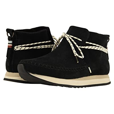 TOMS Rio Water-Resistant Sneaker (Black Suede) Women