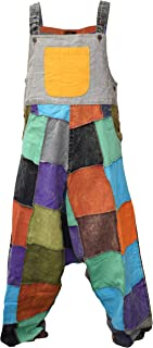 Gheri Men's Colorful Patchwork Cotton Light Dungarees