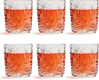 Libbey Wasserglas Atik – 230 ml / 23 cl – 6 Stück - Spülmaschinenfest – Vintage Stern Design - Made in Europe