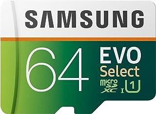 Samsung EVO Select 64 GB microSD 100MB/s, snelheid, Full HD & 4K UHD geheugenkaart incl. SD-adapter voor smartphone, table...