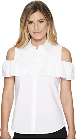 Calvin Klein - Cold Shoulder Ruffle Blouse