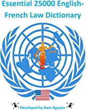 Essential 25000 English-French Law Dictionary