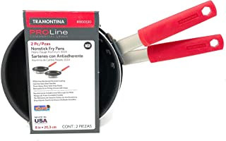 Tramontina Pro Line - Sartén antiadherente de grado comercial, 2 unidades