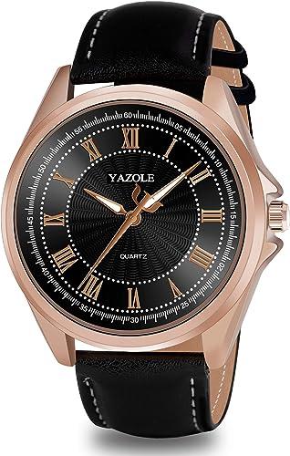 Analog Watches For Men Latest Stylish Business Luminous Black Dial Black Strap