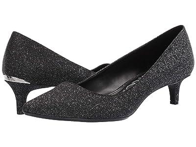 Calvin Klein Gabrianna Pump (Black Glitter Denim) Women