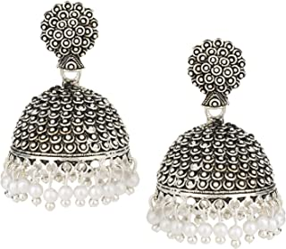 Best silver jhumka earrings Reviews