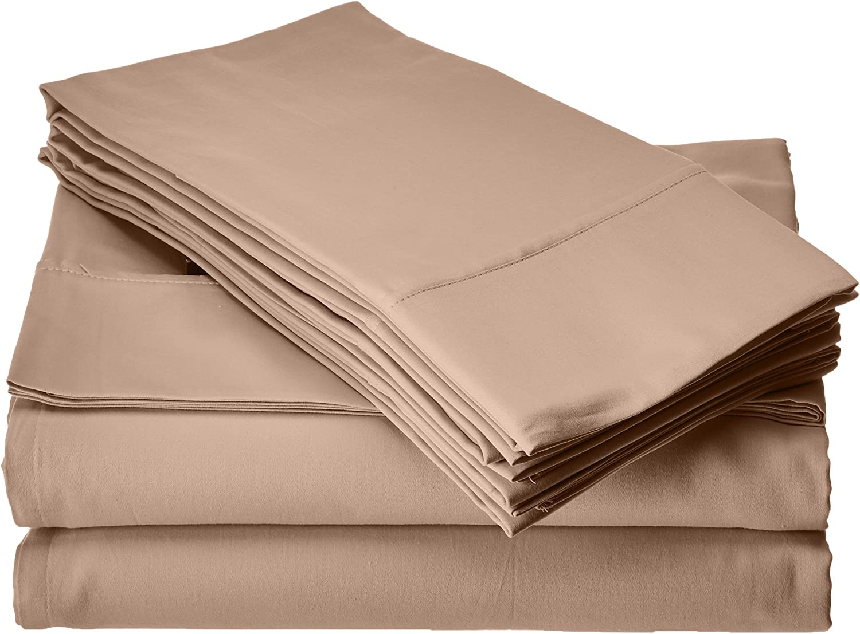 Elite Home Products T300 Legacy Solid Café Seasonal Wrap Introduction 6 P New York Mall Sheet Set Bonus