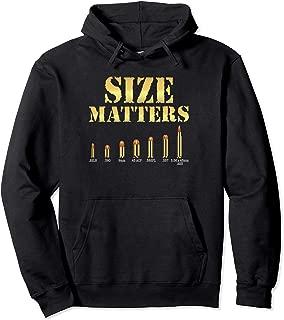Size Matters Bullet Shirt Gun Shooting Pullover Hoodie