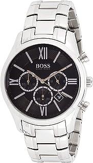Hugo Boss Ambassador Men's Black Dial Stainless Steel Band Chronograph Watch - 1513196, Analog Display, Japanese Quartz Mo...