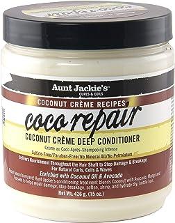 Aunt Jackie's Coconut Crème Recipes Coco Repair, Coconut Crème Deep Conditioner, Repair and Restores Damaged Hair, 15 Ounc...