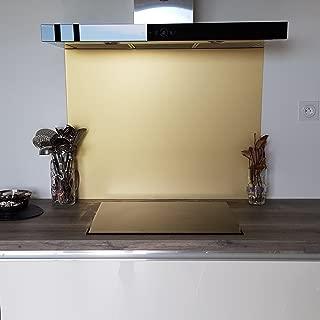 longitud 60 cm Blanc Pure Ral 9010 AluCouleur fondo de campana//cr/édence aluminio blanc-mat-9/tallas/ /altura 60/cm x