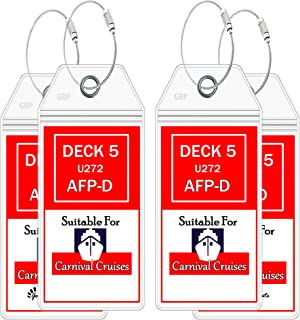 (2019) Cruise luggage tags for Carnival Cruise Line - Wide Luggage Tags - Cruise Ship Accessories