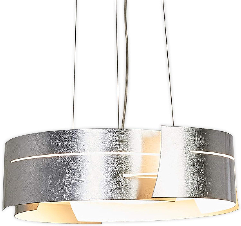 Lampenwelt LED Pendelleuchte 'Keyron' (Modern) in Alu aus Metall u.a. für Wohnzimmer & Esszimmer (1 flammig, A+, inkl. Leuchtmittel) - Hngeleuchte, Esstischlampe, Hngelampe, Hngeleuchte