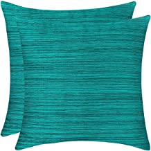 The White Petals Teal Green Euro Sham Covers for Sofa, Couch & Bed (26x26 inch, Pack of 2)