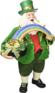 "Department 56 Possible Dreams Santa Claus ""Leprechaun Loot"" Clothtique Christmas Figurine"