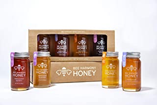 Bee Harmony Mini Honey Gift Set | Premium Raw Honey | Product of U.S.A. | Kosher for Passover