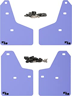 RokBlokz Mud Flaps for 2012+ Ford Focus - Multiple Colors Available - Set of 4 - Fits All MK3 Models - Includes All Hardware and Detailed Instructions (Purple with Black Logo, Shortz)