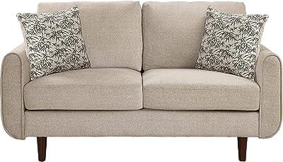 Amazon.com: Unihome Fabric 2 Seat Sofa Love Seat Upholstered ...