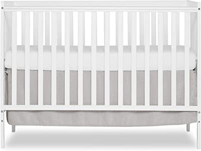 Dream On Me Synergy 5-in-1 Convertible Crib in White, Greenguard Gold Certified