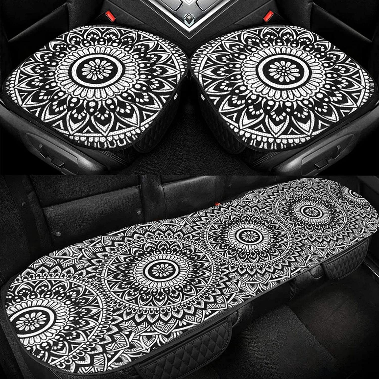 Mandala Drawing Car Seat Ranking TOP16 Cushion Silk Limited time trial price Cover Ice Driver