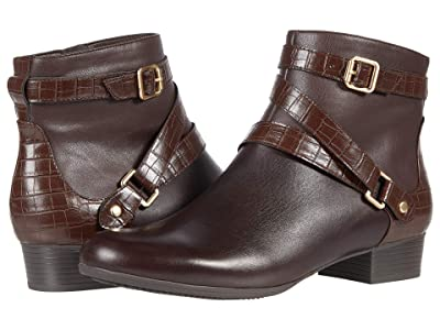 Trotters Mika (Dark Brown Veg Calf Leather) Women