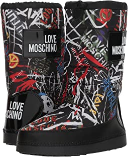 Grafitti Print Snow Boot