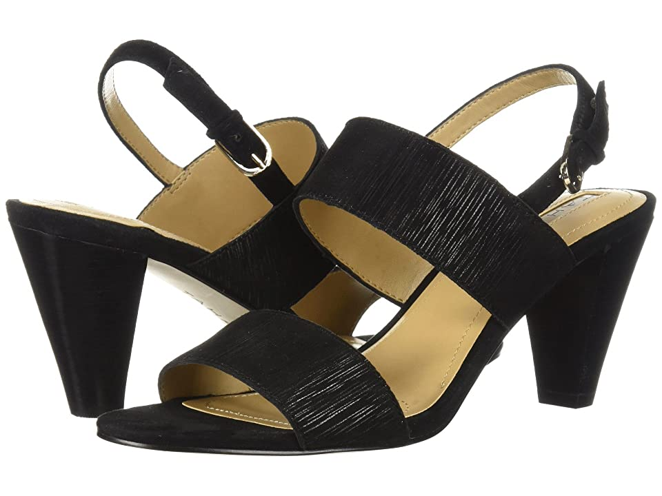 Tahari Easy (Black Striped Suede) High Heels