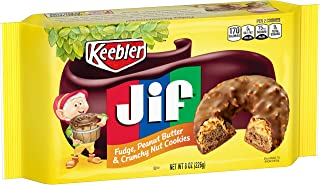 Keebler Fudge, Jif Peanut Butter and Crunchy Nuts Fudge Shoppe Cookies, 8 OZ, 12 Count