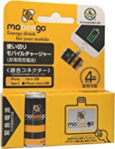 モビーゴ【iPhone/micro USB兼用アダプター&電池単品(1個)】超軽量 災害 緊急用モバイルバッテリー mobeego 1700mAh