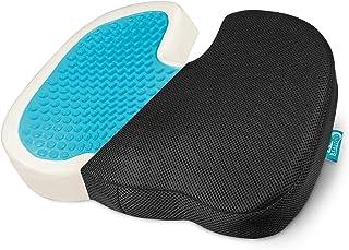 Beautissu cojin coxis viscoelastico Gel y Espuma de Memoria Beauergo GS cojín ortopedico - 45x35x7 cm - cojin Embarazada - cojin Silla Oficina - portátil