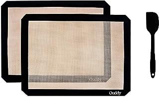Ouddy 2 Pcs Tapis de Cuisson, 42cm*29.5cm×2 Tapis Cuisson Antiadhésif, Tapis Cuisson Silicone Résistance aux Température É...