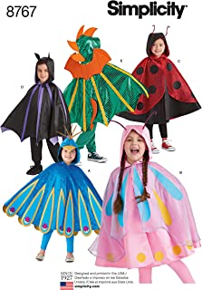 Simplicity 8767 Children's Cape Costume Sewing Pattern, 5 Halloween Costumes Sizes S-L