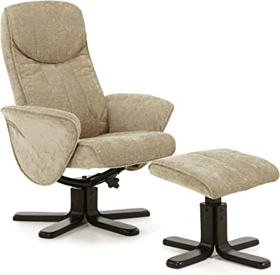 Chenille Fabric Swivel Recliner chair in Mink Oriental Leather Co Ltd The Hong Kong