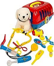 MMP Living Pet Care Play Set - pet Vet, pet Grooming and pet Travel Crate with Plush Dog - 12pcs