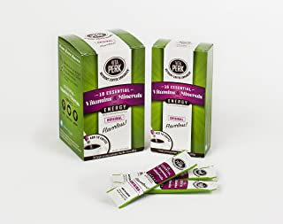 VitaPerk Energy Value Pack (37 stickpacks), Original (Flavorless), Add HEALTHY ENERGY & Vitamins to Starbucks, Kuerig Green Mountain, Dunkin Donuts, Folgers or your favorite coffee or coffee pod