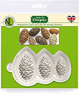 Pine Cones Silicone Sugarpaste Icing Mold, Nicholas Lodge for Cake Decorating, Sugarcraft, Candies, Crafts, Cards and Clay, Food Safe Approved, Made in the UK
